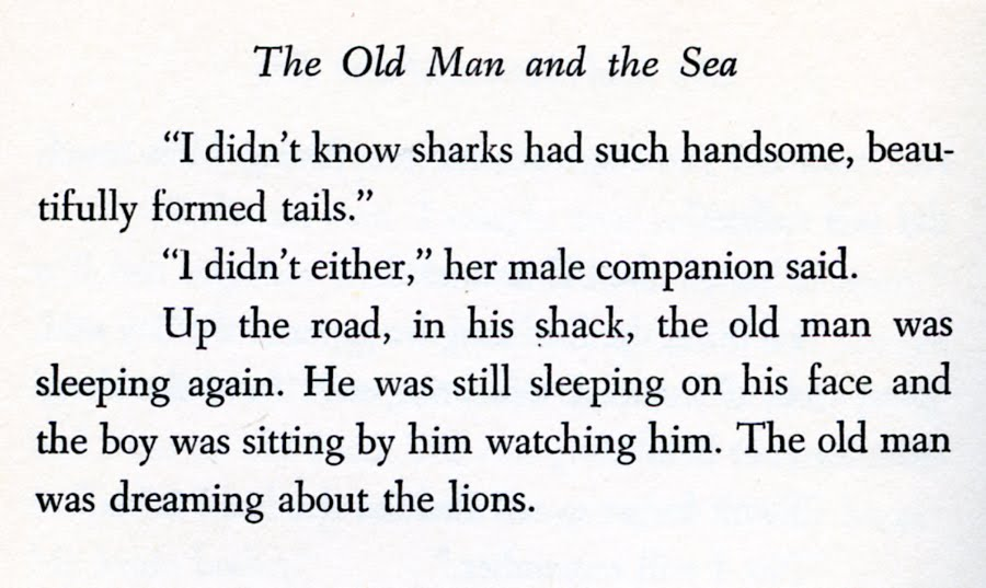 Essay for the old man and the sea